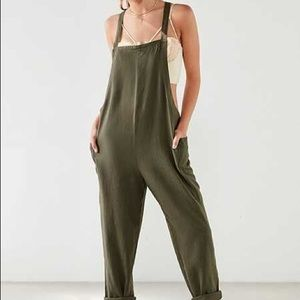 Urban Outfitters Olive Green Overalls/Jumpsuit